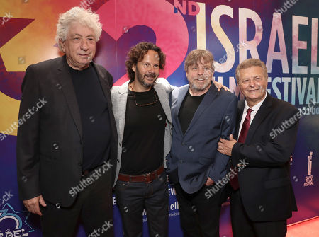 Avi Lerner, 2018 IFF Achievement in Film Award Winner Producer Ram Bergman, Mark Hamill and Executive Director/Founder of IFF Meir Fenigstein