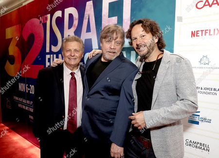 Executive Director/Founder of IFF Meir Fenigstein, Mark Hamill and 2018 IFF Achievement in Film Award Winner Producer Ram Bergman