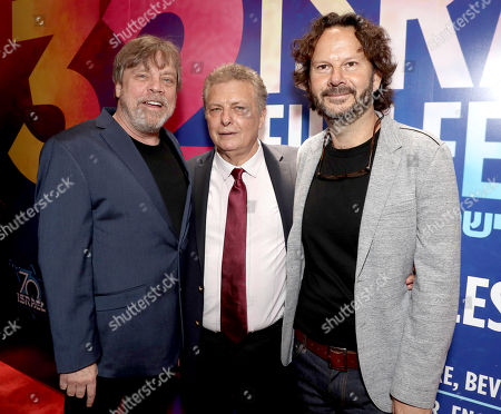 Mark Hamill, Executive Director/Founder of IFF Meir Fenigstein and 2018 IFF Achievement in Film Award Winner Producer Ram Bergman