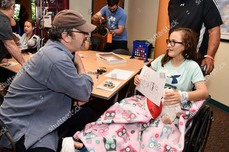 Robert Smigel with patient at Children's Mercy Hospital