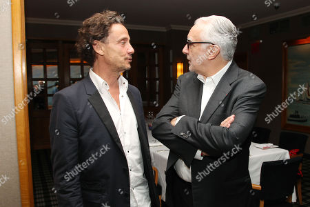 Stock Photo of Gilles de Maistre (Director) and Chef Alain Ducasse