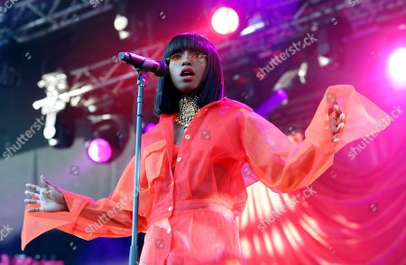 Editorial picture of Sabina Ddumba in concert at Grona Lund, Stockholm, Sweden - 31 May 2018
