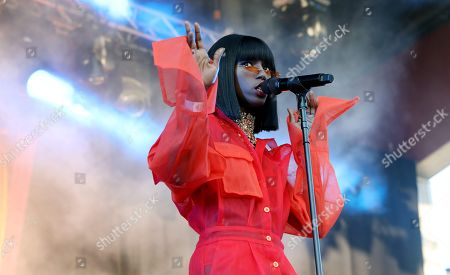 Editorial photo of Sabina Ddumba in concert at Grona Lund, Stockholm, Sweden - 31 May 2018