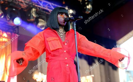Editorial image of Sabina Ddumba in concert at Grona Lund, Stockholm, Sweden - 31 May 2018