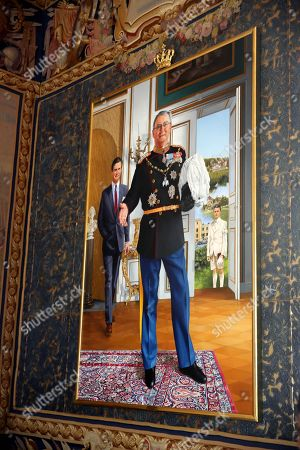 National History Museum with a paining of late prince Henrik at Frederiksborg Castle in Hillerod, Denmark.