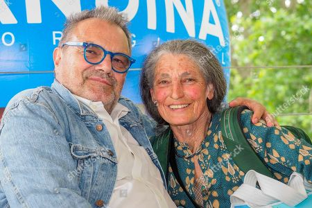 Oliviero Toscani and Benedetta Barzini