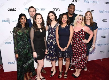 """Sanya Dosani, Pat Cassels, Melinda Taub, Nicole Silverberg, Naureen Khan, Travon Free, Hannah Wright, Alison Camillo. Sanya Dosani, from left, Pat Cassels, Melinda Taub, Nicole Silverberg, Naureen Khan, Travon Free, Hannah Wright and Alison Camillo attend the 11th Annual """"Television Academy Honors,"""" the Television Academy's celebration of TV's power to change hearts and minds and positively influence society, on at NeueHouse in Los Angeles"""