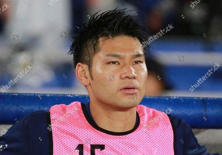 Japan's goalkeeper Kosuke Nakamura stands during a friendly soccer match between Japan and Ghana in Yokohama, Japan
