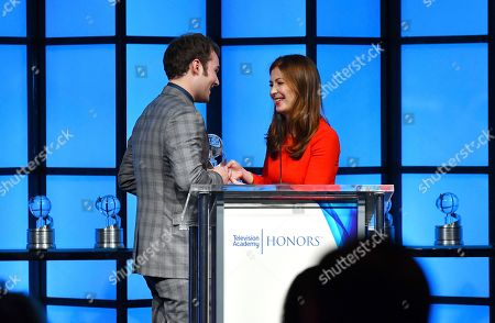 "Justin Prentice, Dana Delany. Dana Delany, left, presents Justin Prentice, on behalf of creator Brian Yorkey, the Television Academy Honor for ""13 Reasons Why,"" and is recognized for using the power of TV to increase awareness and positively impact society at the 11th Annual ""Television Academy Honors"" held at NeueHouse in Los Angeles"