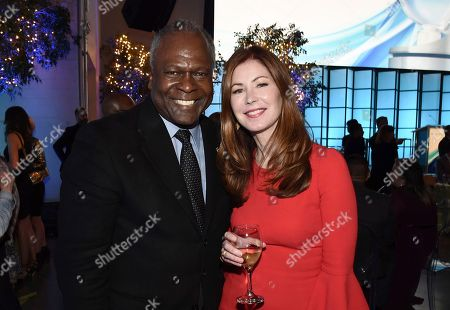 "Kim Estes, Dana Delany. Kim Estes, left, and Dana Delany attend the 11th Annual ""Television Academy Honors"" held at NeueHouse in Los Angeles"