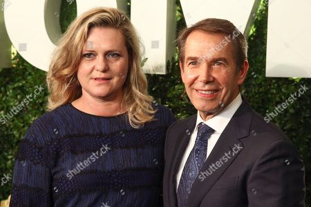 Stock Photo of Justine Wheeler, Jeff Koons. Justine Wheeler, left, and Jeff Koons,
