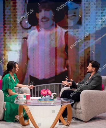 Stock Picture of Christine Lampard and Adam Lambert