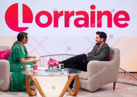 Christine Lampard and Adam Lambert