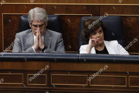 Soraya Saez de Santamaria and Alfonso Dastis