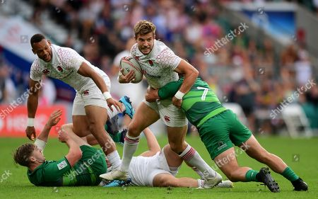 Tom Mitchell of England in action