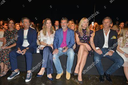 Nicole Kimpel, Antonio Banderas, Valeria Mazza and Alejandro Gravier