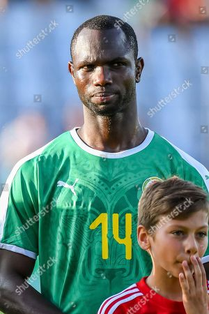 Senegal's Moussa Konate prior to a friendly soccer match between Luxembourg and Senegal at the Josy Barthel stadium in Luxembourg