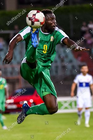 Senegal's Mame Biram Diouf during a friendly soccer match between Luxembourg and Senegal at the Josy Barthel stadium in Luxembourg