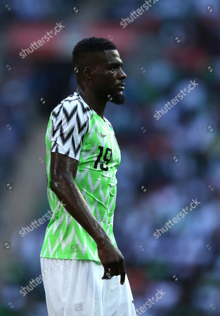 John Ogu (N) at the England v Nigeria Friendly International match, at Wembley Stadium, on June 2, 2018. **This picture is for editorial use only**