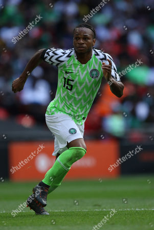 Joel Obi (N) at the England v Nigeria Friendly International match, at Wembley Stadium, on June 2, 2018. **This picture is for editorial use only**