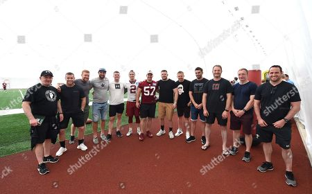 Editorial image of Wales Rugby Squad Visit Washington Redskins - 31 May 2018