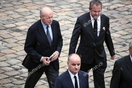 Former French Minister Jacques Toubon (L) attends the funeral ceremony of late Serge Dassault at Saint-Louis-des-Invalides Cathedral in Paris, France, 01 June 2018. French business executive and politician Serge Dassault died on 28 May at the age of 93.