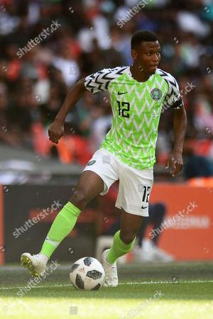 Shehu Abdullahi of Nigeria - England v Nigeria, International Friendly, Wembley Stadium, London - 2nd June 2018.