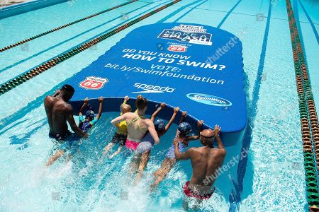 Editorial image of Swimming Foundation Sets GUINNESS WORLD RECORDS® for Largest Kickboard to Kick Off the 10th Annual Make a Splash Tour Presented by Phillips 66, Washington, USA - 01 Jun 2018