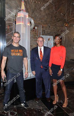 Stock Picture of Andy Cohen, Nza-Ari Khepra, John Feinblatt