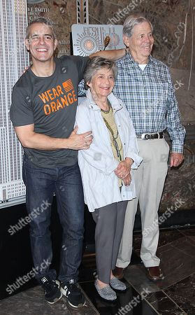 Stock Photo of Andy Cohen, Evelyn Cohen, Lou Cohen,
