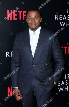 "Stock Image of Derek Luke arrives at the ""13 Reasons Why"" FYSEE Event at the Raleigh Studios, in Los Angeles"