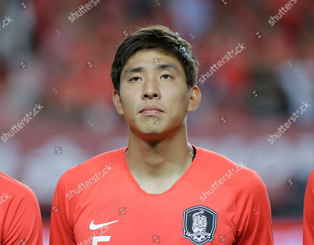 South Korea's Yun Young-sun lines up before a friendly soccer match between South Korea Bosnia and Herzegovina at Jeonju World Cup Stadium in Jeonju, South Korea