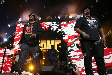 Parrish Smith, Erick Sermon. Rappers Parrish Smith and Erick Sermon of EPMD perform at the Yo! MTV Raps: 30TH Anniversary Experience at the Barclays Center, in New York