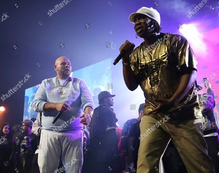 Fat Joe, KRS-One. Rappers Fat Joe and KRS-One perform at the Yo! MTV Raps: 30TH Anniversary Experience at the Barclays Center, in New York