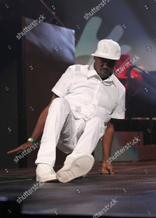 Rapper Kurtis Blow performs at the Yo! MTV Raps: 30TH Anniversary Experience at the Barclays Center, in New York