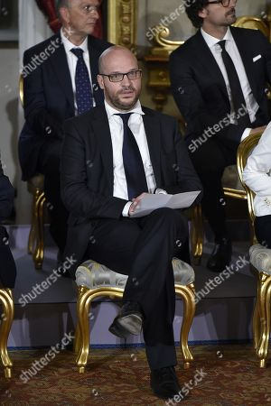 Minister Lorenzo Fontana during new government swearing at Quirinal Palace0747