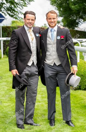 Ben Foden and Tom Kessell attend Derby Day