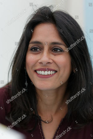 Stock Image of Anuradha Roy signs copies of her book