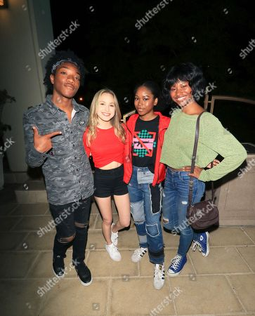 Jaheem Toombs, Brady Reiter, Riele Downs and Reiya Downs