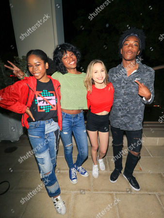 Stock Photo of Jaheem Toombs, Brady Reiter, Riele Downs and Reiya Downs