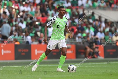 Nigeria Shehu Abdullahi (12) dribbling during the Friendly International match between England and Nigeria at Wembley Stadium, London. Picture by Matthew Redman
