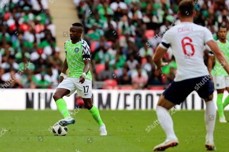 Nigeria Ogenyi Onazi (17) dribbling during the Friendly International match between England and Nigeria at Wembley Stadium, London. Picture by Matthew Redman