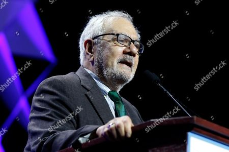 Former U.S. Rep. Barney Frank speaks during the 2018 Massachusetts Democratic Party Convention, in Worcester, Mass