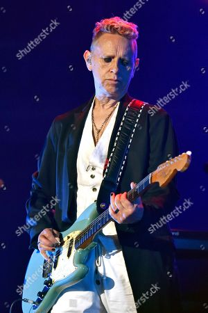 Martin Gore of Depeche Mode performs during the Global Spirit Tour at the United Center, in Chicago