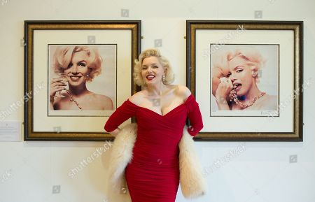 The world's leading Marilyn Monroe tribute artist, Suzie Kennedy opens 'Timeless' exhibition at Moyses Hall, Bury St Edmunds