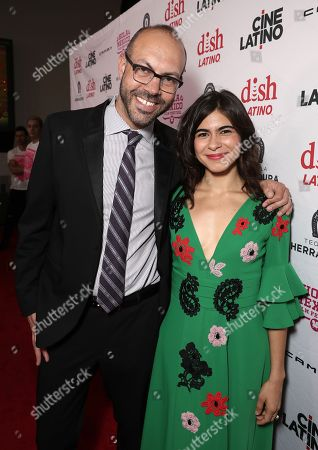 Stock Picture of Hola Film Festival Founder/Director Samuel Douek and Sofia Espinosa