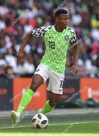 Nigeria's Abdullahi Shehu in action