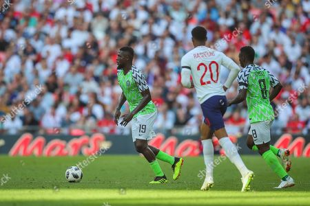 Stock Picture of Nigeria forward John Ogu (19) during the Friendly International match between England and Nigeria at Wembley Stadium, London. Picture by Toyin Oshodi