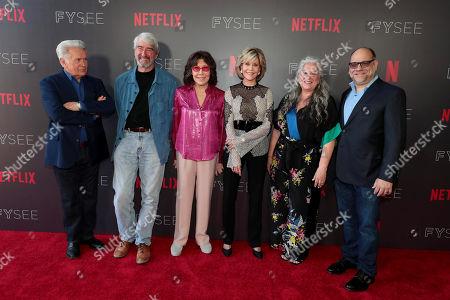 Martin Sheen, Sam Waterston, Lily Tomlin, Jane Fonda, Marta Kauffman, Creator/Executive Producer, Howard J. Morris, Creator/Executive Producer,