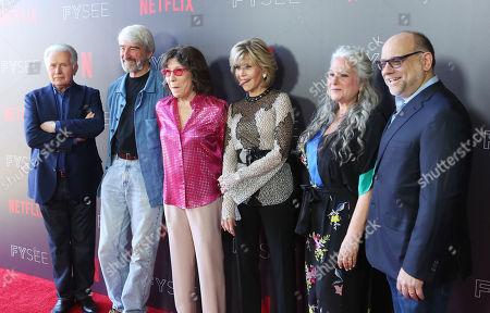 Martin Sheen, Sam Waterson, Lily Tomlin, Jane Fonda, Marta Kauffman and Howard J. Morris